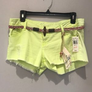 Vanilla Star Distressed Shorts with Belt.  Size 13